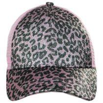 High Ponytail Glitter Leopard Mesh Adjustable Baseball Cap alternate view 18