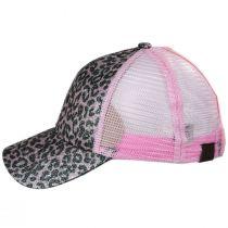 High Ponytail Glitter Leopard Mesh Adjustable Baseball Cap alternate view 19