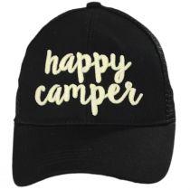 High Ponytail Happy Camper Mesh Adjustable Baseball Cap alternate view 2