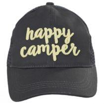 High Ponytail Happy Camper Mesh Adjustable Baseball Cap alternate view 6