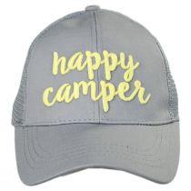 High Ponytail Happy Camper Mesh Adjustable Baseball Cap alternate view 10