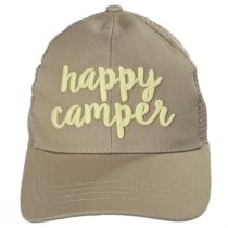 High Ponytail Happy Camper Mesh Adjustable Baseball Cap alternate view 14