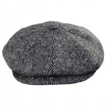 Galvin Wool Tweed Newsboy Cap in