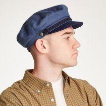 Herringbone Cotton Fiddler Cap in