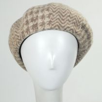 Herringbone Houndstooth Wool Beret alternate view 2