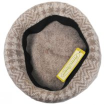 Herringbone Houndstooth Wool Beret alternate view 3