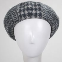 Herringbone Houndstooth Wool Beret alternate view 5
