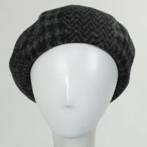 Herringbone Houndstooth Wool Beret alternate view 8