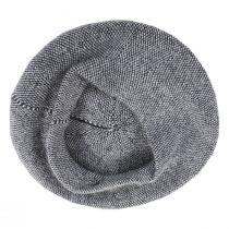 Tweed Barleycorn Wool Blend Beret alternate view 9