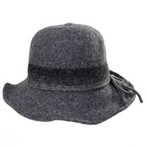 Pinstripe Band Boiled Wool Roller Hat alternate view 2