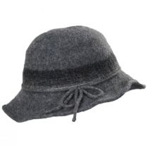 Pinstripe Band Boiled Wool Roller Hat in