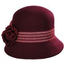 Chevron Fleur Wool Felt Cloche Hat alternate view 2