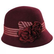 Chevron Fleur Wool Felt Cloche Hat alternate view 3