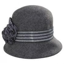 Chevron Fleur Wool Felt Cloche Hat alternate view 6