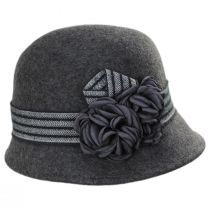 Chevron Fleur Wool Felt Cloche Hat alternate view 7
