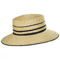 Nelina Straw Boater Hat in