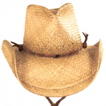 Husky Raffia Straw Western Hat alternate view 2