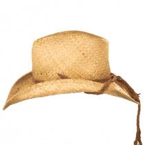 Husky Raffia Straw Western Hat in