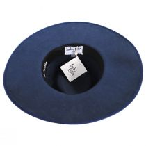 Rancher Navy Blue Wool Felt Fedora Hat alternate view 16