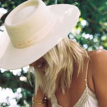 Juno Dragonfly Wool Felt Boater Hat in