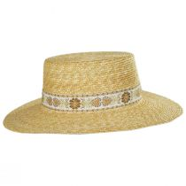 Spencer Wheat Straw Boater Hat alternate view 2