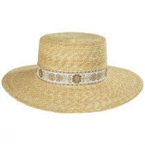 Spencer Wheat Straw Boater Hat alternate view 3