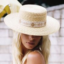 Spencer Wheat Straw Boater Hat alternate view 5