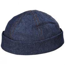 Six Panel Denim Cotton Beanie Hat alternate view 5