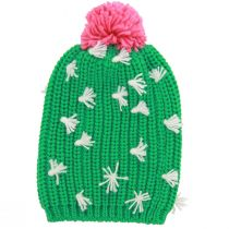 Cactus Knit Slouch Beanie Hat alternate view 2