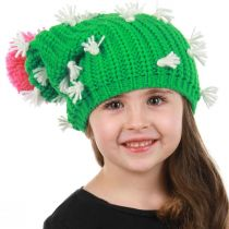 Cactus Knit Slouch Beanie Hat alternate view 3