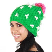 Cactus Knit Slouch Beanie Hat alternate view 4