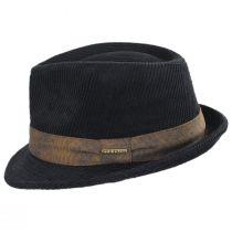 Cuff Corduroy Cotton Fedora Hat alternate view 7
