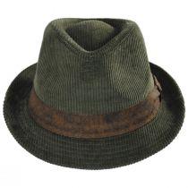 Cuff Corduroy Cotton Fedora Hat alternate view 10