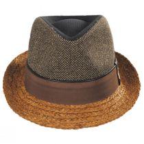 Journey Wool and Raffia Straw Fedora Hat alternate view 2