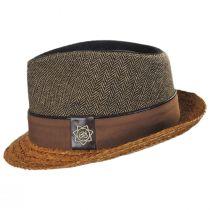 Journey Wool and Raffia Straw Fedora Hat alternate view 3