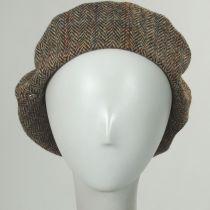 Gwen Tweed Herringbone Wool Beret in
