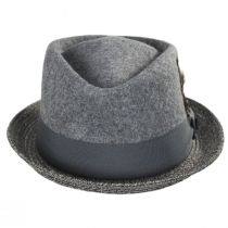 Hillsdale Wool and Toyo Straw Fedora Hat alternate view 2