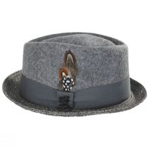 Hillsdale Wool and Toyo Straw Fedora Hat alternate view 3