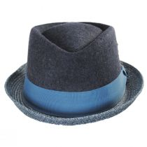 Hillsdale Wool and Toyo Straw Fedora Hat in