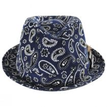 Imagine Corduroy Paisley Cotton Fedora Hat in