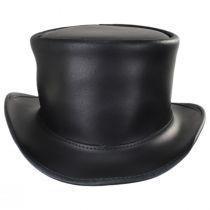 El Dorado Leather Unbanded Top Hat alternate view 2