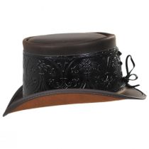 El Dorado Leather Top Hat with Black Heraldic Hat Wrap Band alternate view 7