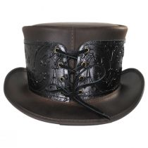 El Dorado Leather Top Hat with Black Heraldic Hat Wrap Band alternate view 8