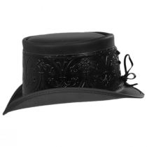 El Dorado Leather Top Hat with Black Heraldic Hat Wrap Band alternate view 3