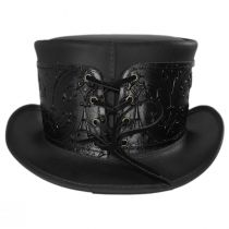 El Dorado Leather Top Hat with Black Heraldic Hat Wrap Band alternate view 12