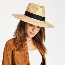 Joanna Honey Wheat Straw Fedora Hat alternate view 2