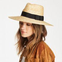 Joanna Honey Wheat Straw Fedora Hat alternate view 3