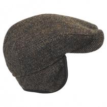 Herringbone Harris Tweed Wool Ivy Cap in