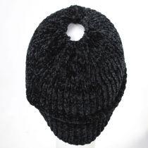 Chenille Ponytail Beanie Hat in