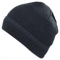Herringbone Knit Cuff Beanie Hat in